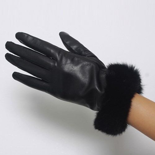 Bunny Leather Gloves