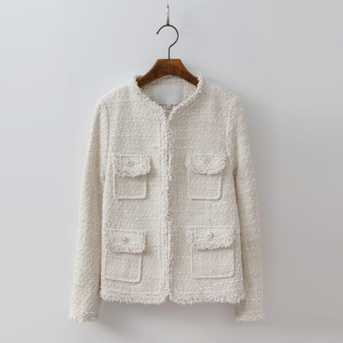 Cream Tweed Jacket