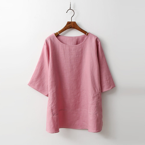 Linen Basic Blouse