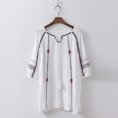 Stitch Tassel Blouse
