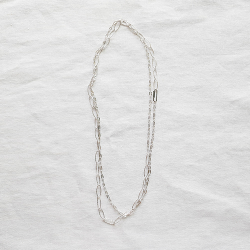 Chain Long Necklace - Silver925