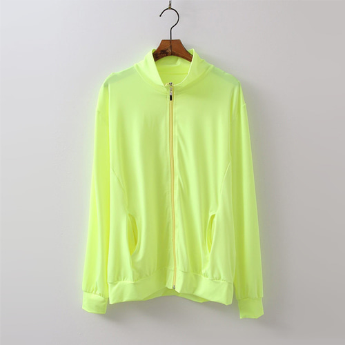 Neon Zip-Up Rash Guard