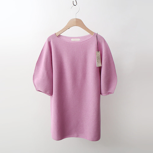 Maille Linen Puff Sweater - 5부소매