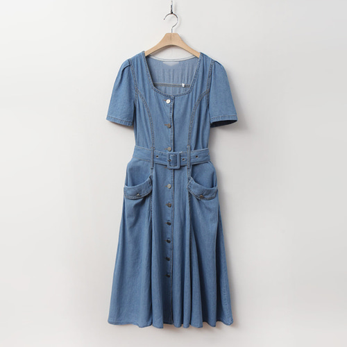 Summer Denim Flare Dress