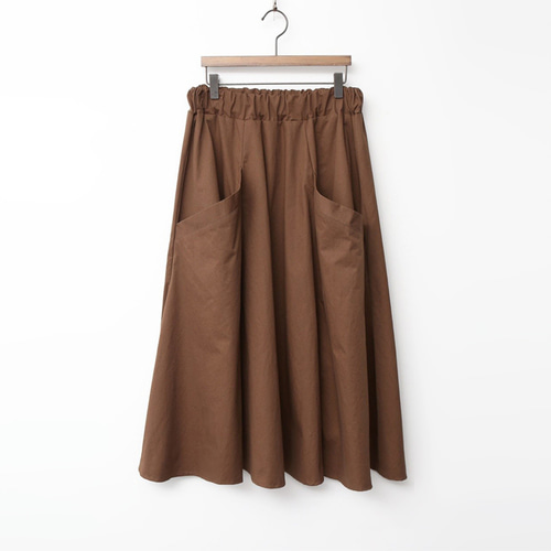 Autumn Cotton Pocket Long Skirt