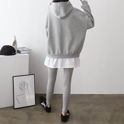 [Set] Hood Sweatshirt + Leggings
