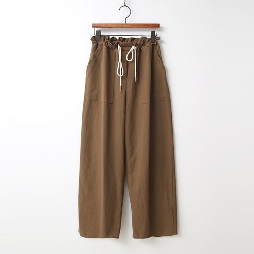 Cotton String Wide Pants