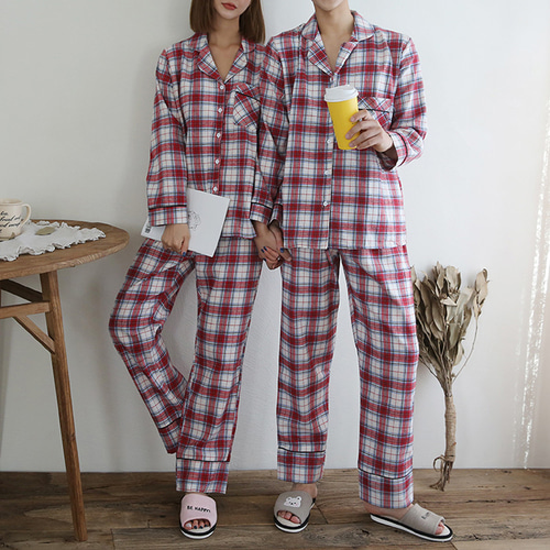 Gimo Check Pajama Set - 커플룩