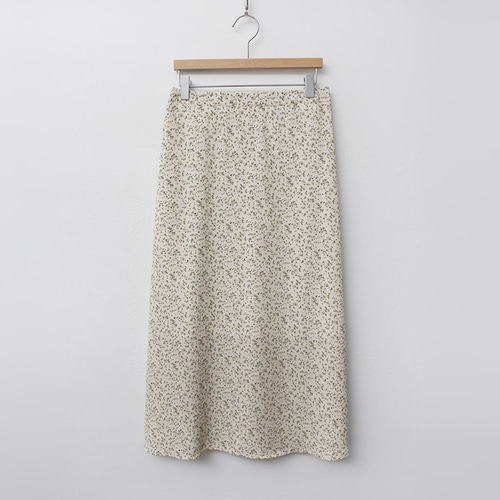 Flower Chiffon Long Skirt