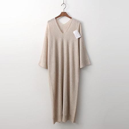 Hoega Cashmere N Wool V-Neck Do Long Dress