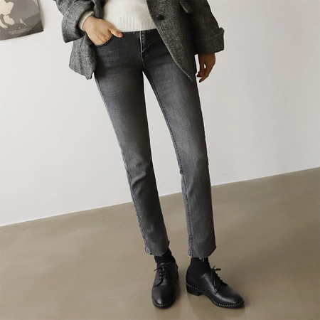 Charcoal Straight Jeans