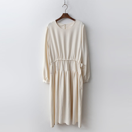 Spring Cotton Shirring Dress