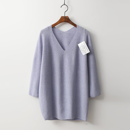 Hoega Wool N Cashmere Double V-Neck Sweater