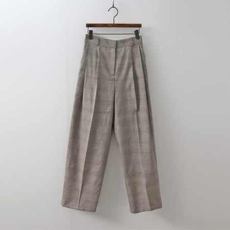 Linen Glencheck Wide Pants