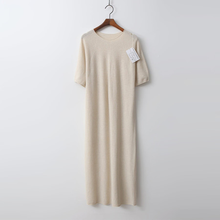 Hoega Wool N Cashmere Long Dress - 반팔