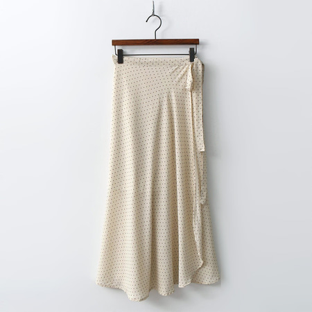 Small Dot Wrap Long Skirt