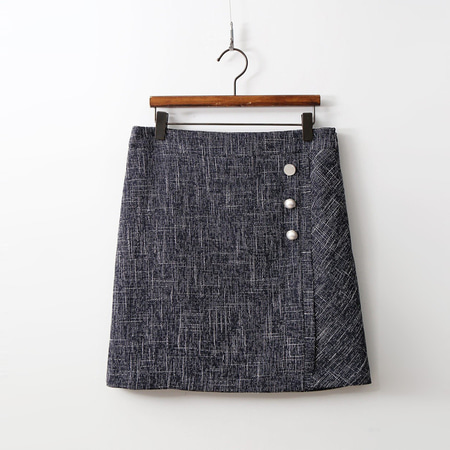 Linen Pearl Mini Skirt