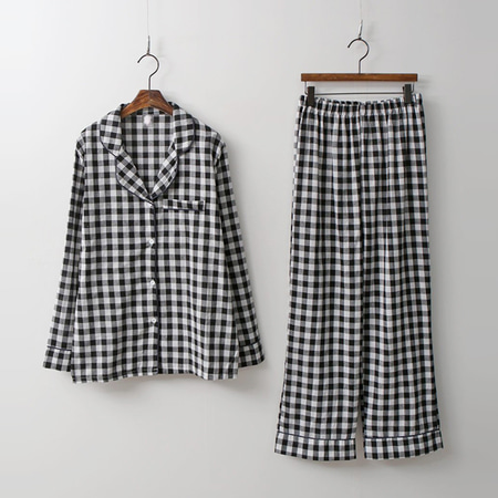 Check Pajamas Set - 커플룩