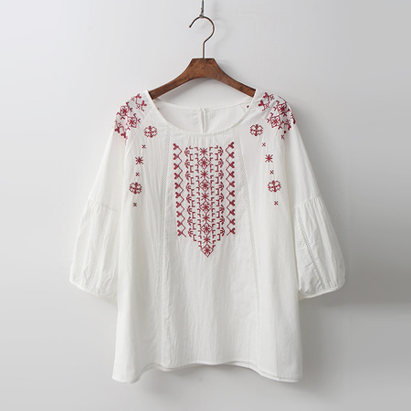Cotton Broderie Blouse