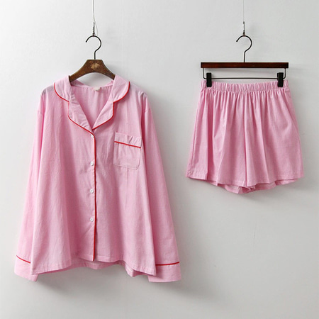 Stand Pajamas Set - 커플룩