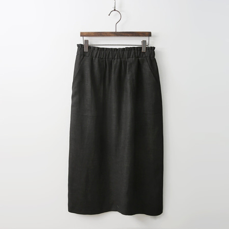 Linen Pocket Long Skirt