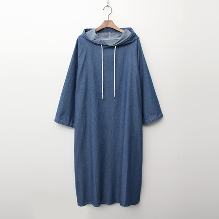 Denim Hoodie Long Dress