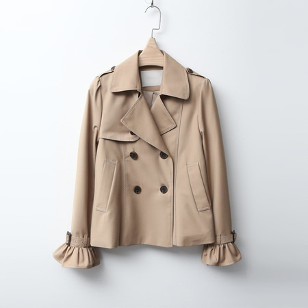 Frill Trench Short Jaceket