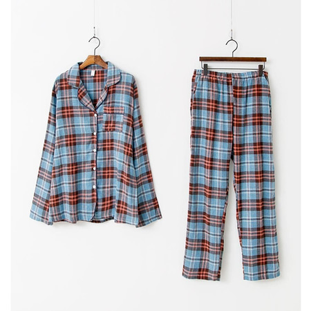 Aria Check Pajamas Set - 커플룩