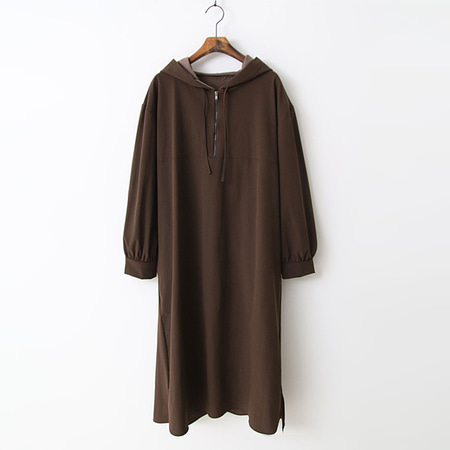 Nylon Hoodie Long Dress