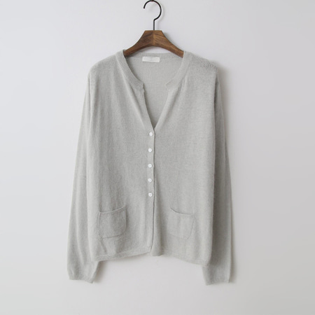 Wool Sky Button Cardigan