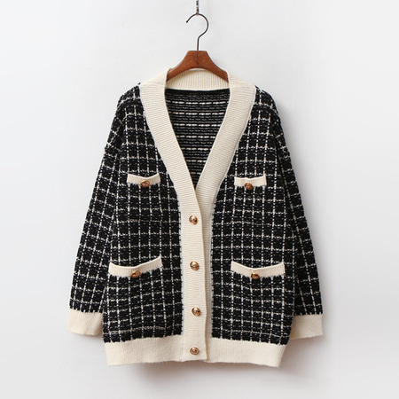 Tweed Knit Cardigan