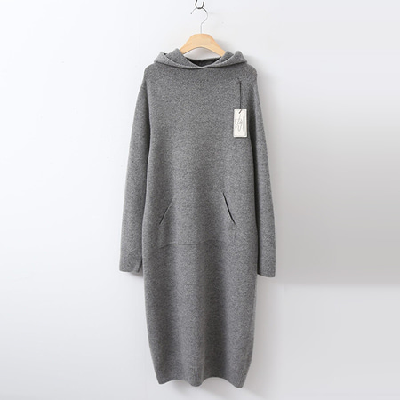 Laine Cashmere Wool Hood Dress
