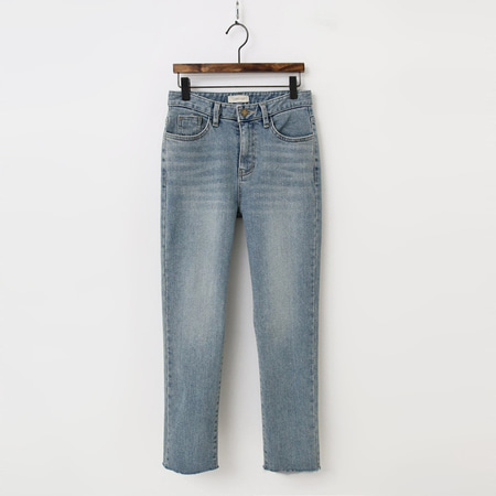 Light Straight Crop Jeans - 기모안감
