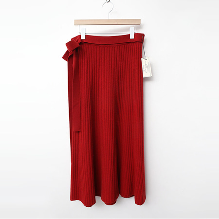 Laine Cashmere Wool Ribbon Long Skirt