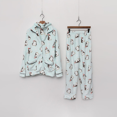 Soft Penquin Pajamas Set - 헤어밴드포함