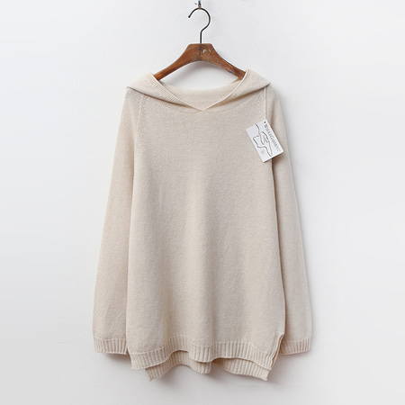 Laine Cashmere N Wool Hood Sweater