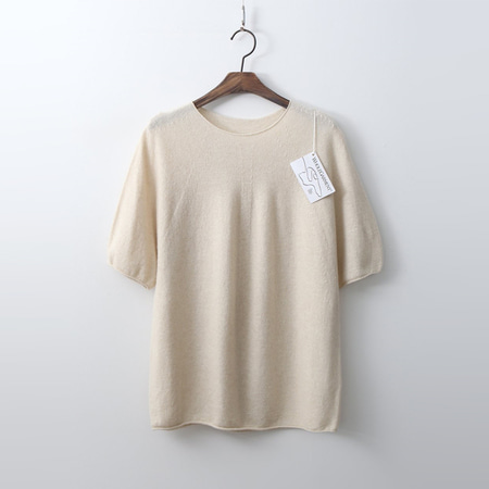 Laine Cashmere N Wool Sweater - 반팔