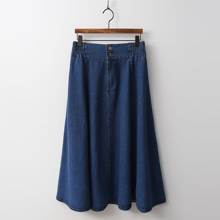 Como Full Denim Skirt