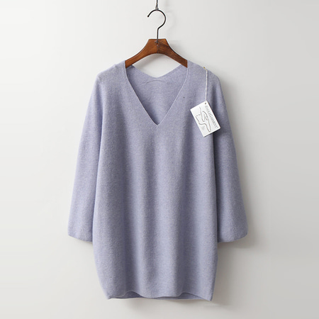 Laine Wool N Cashmere Double V-Neck Sweater