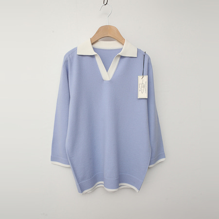 Laine Wool Collar Sweater - 7부소매