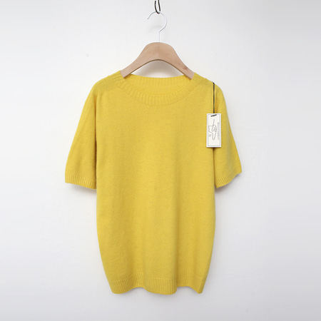 Laine Raccoon Wool Sweater - 반팔