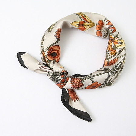 Autumn Flower Square Petit Scarf