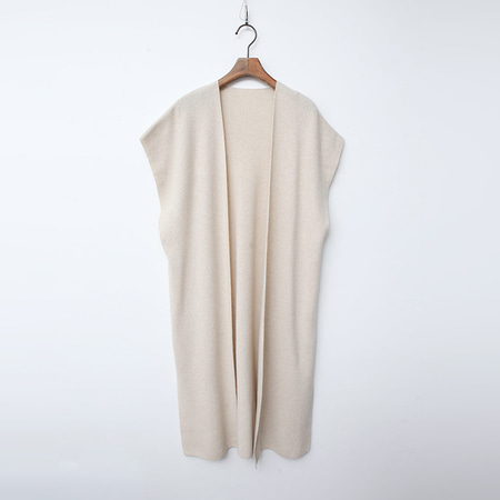 Wool N Cashmere Shawl Long Vest