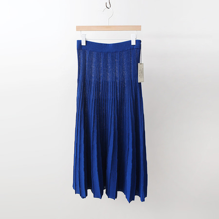 Maille Linen Pleats Long Skirt