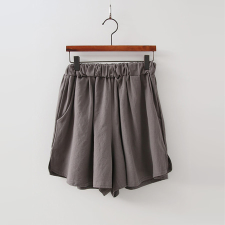 Linen Cotton Wide Shorts - 치마바지