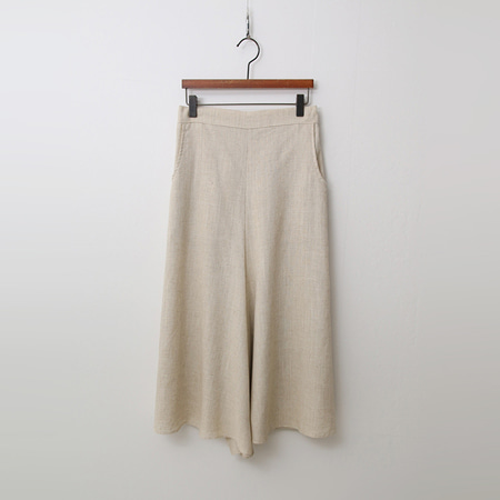 Linen Wide Culottes Pants - 치마바지