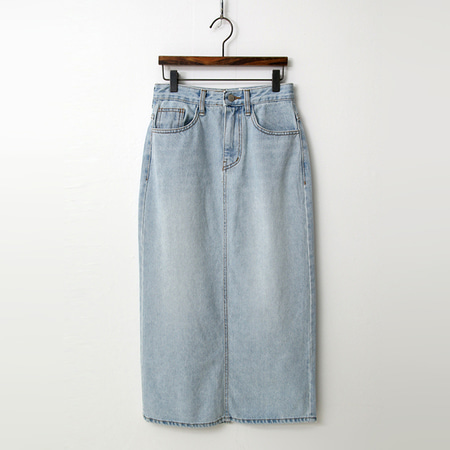 Light Denim Long Skirt