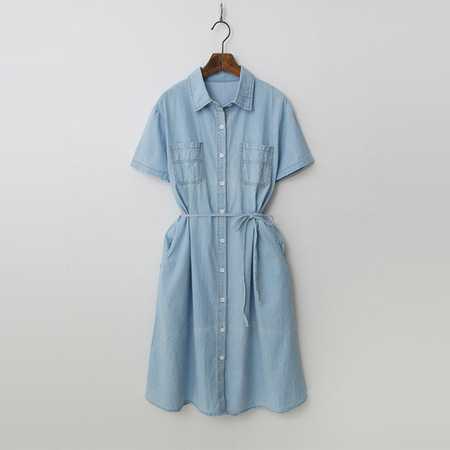 Summer Denim Shirts Dress