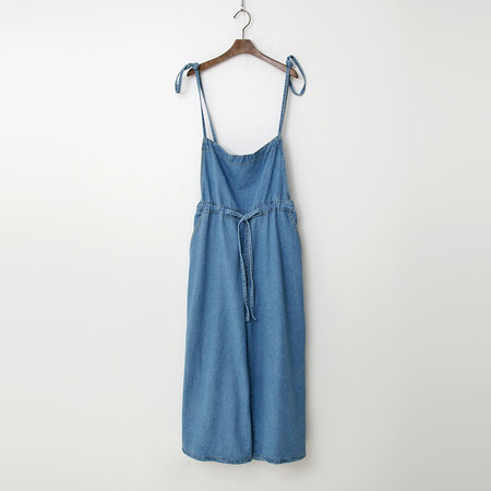 Denim Wide Jumpsuit