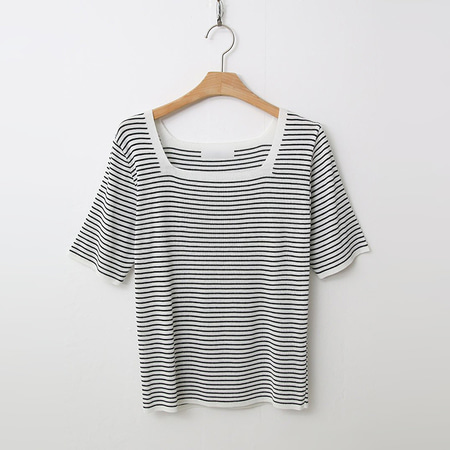 Stripe Square Knit